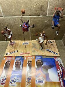 🔥LOT OF 4 Mcfarlane NBA Basketball Figures Francis, Brown, Brand BEST DEAL!🔥