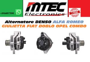 51808561 Alternatore RIGENERATO DENSO ALFA ROMEO GIULIETTA FIAT DOBLO OPEL COMBO