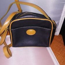 f8b14c9ed73f Esprit Black Brown Vintage Pebble Leather Crossbody Shoulder Bag Purse Small