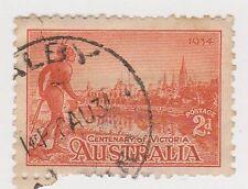 (JJ-534) 1934 AU 2d red Victoria Centenary (BF)