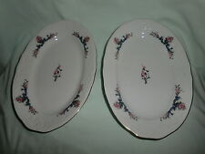 SET OF 2 BEAUTIFUL ROYAL VIENNA COLLECTION MENUET PORCELAIN OVAL DISHES (POLAND)