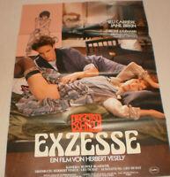 A1 Filmplakat ,EXZESSE, MATHIEU CARRIERE,JANE BIRKIN