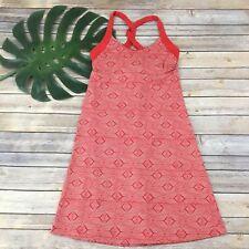 Patagonia Womens Morning Glory Dress Sz S Turkish Red Geometric Print Shelf Bra
