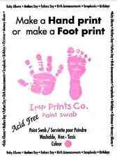 New Baby Girl Pink Toddler Newborn Imprint Paint Wipe Handprint Footprint Kit