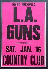 LA GUNS Original Promo Concert Poster 1/16/1988 LA N Roses MOTLEY CRUE Ratt KNAC