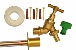 Outside Tap Kit With Through Wall Pipe / Mounting Flange DOUBLE CHECK VERSION