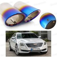 Silver Car Exhaust Muffler Tip Tail Pipe End Trim for KIA Forte 2014-2016 #4047