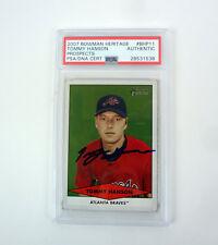 Tommy Hanson 2007 Bowman Heritage Signed Autograph Rookie Card RC PSA/DNA COA