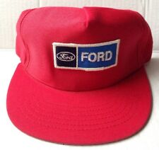 1970s 1980s FORD MOTOR COMPANY TRUCKER BASEBALL CAP HAT, RED, NEW NOS VINTAGE