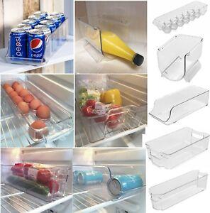 Space Saver Fridge Cupboard Drinks Can Egg Fruit Wine Storage Rack Box Tray