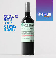 Personalised Prescription Xmas Mulled Red wine bottle label,Birthday/ Gift