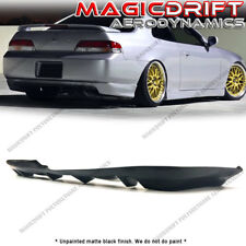 For 97-01 Honda Prelude BB6 MUG MU 4-Fin Style Rear Bumper Lower Diffuser Lip