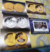5 publicity cards for Royal Family coins (20.2.31)
