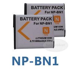 2X NP-BN1 Battery for Sony Cyber-shot DSC-W570 DSC-W560 DSCW330L DSC-W330R