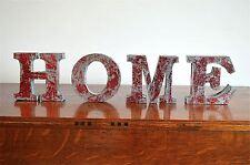 FANTASTIC RETRO 3 DIMENSIONAL LETTERING WORD HOME SIGN  SR