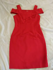 NWT Gorgeous Suite Alice Red Holiday Party Dress size XS cold shoulder sheath