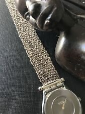 Rare Swatch Skin Watch Element Sterling Silver Swiss Made Argent