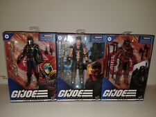 Gi joe classified Cobra Commander, Gung Ho, & Red Ninja!! Lot of 3! 6,7,8