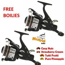 Carp Fishing Reels Runner x2 MAX40 Freespool with 8lb Line and FREE BOILIES
