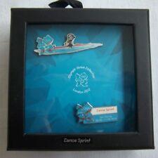 Orig. 2er Pin Set  Olympische Spiele LONDON 2012 - KANURENNSPORT / in Box !! TOP