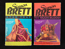 Lot of 2 Simon Brett - So Much Blood and Star Trap Vintage Paperback