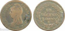 Directoire, 10 centimes Dupré, An 8, K = Bordeaux - 14