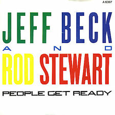 "JEFF BECK & ROD STEWART - People Get Ready - Deleted 1985 UK  2-track  7"" single"