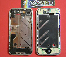 Kit COVER GUSCIO CHASSIS COMPLETO per APPLE IPHONE 4 4G +FLEX+TASTI+TELAIO+FLAT