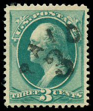 """momen: US Stamps #184 Used XF PAID """"3""""  Cole PA-34"""