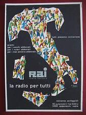 CARTOLINE PUBBLICITA' RADIO RAI ROSSETTI POLLONI 1950 OLD ADVERTISING POSTCARD