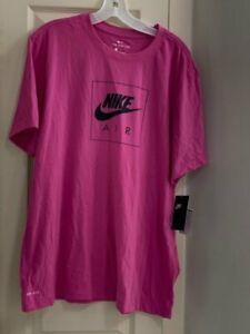 NWT Nike Air Dri-Fit Swoosh Men's Large Pink Short Sleeve T-Shirt DO8378-651