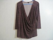 Ann Taylor Womens Blouse Top Size XL 3/4 Sleeve Stretch
