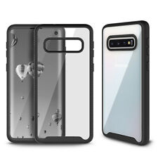 For Samsung Galaxy S10 Hybrid Clear Hard Back Case Protective Soft Bumper Cover