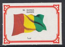 Monty Gum 1980 Flags Cards - Card No 50 - Guinea (T668)