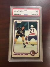 1981 O-Pee-Chee Ray Bourque  #17  graded PSA 7 NM  Hockey Card