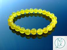 Yellow Agate Dyed Natural Gemstone Bracelet 7-8'' Elasticated Healing Stone