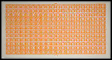 SG d56 1/2 D Arancione QE II Multi CORONE foglio completo dell'affrancatura diritti non montato Nuovo di zecca