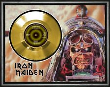 More details for iron maiden - aces high - framed and mounted gold 45rpm 7