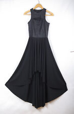 P642/02 New River Island Futuristic Black Dress, size UK 6 Euro 32, age 14-16