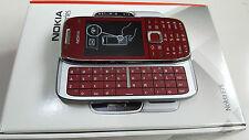 New Original Nokia E75 - Silver Red (Unlocked) Smartphone BNIB