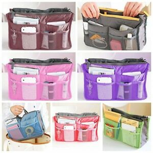 Women Travel Large Insert Handbag Organiser Purse Liner Organizer Tidy Bag JH