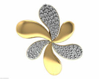 Certified Diamond Floral Pendant 14K Solid Yellow Gold Couturechics Fine Jewelry