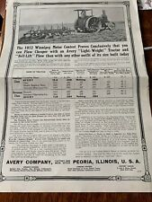 "Vintage Advertising Avery Tractor Farm Equipment 1912 10"" X 14"""