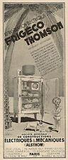 W5103 Thomson - Frigo elettrico - Rèfrigèration electrique - Pubblicità 1929