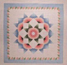 Susan Roberts Carnation Star Quilt Pattern Handpainted Needlepoint Canvas