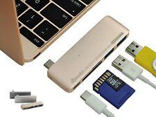 Gold GN21B 5-in-1 USB-C charging hub for MacBook Windows PC Galaxy S8