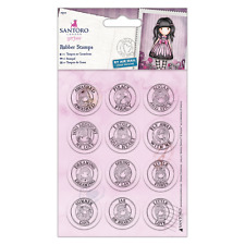 Gorjuss Mini Cling Rubber Stamp Set 12 Pk Post Mark New Collection Girls