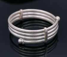 TRIBAL PURE SILVER JEWELRY FROM INDIA BANGLE BRACELET KADA  FOR GIRL'S nsk83