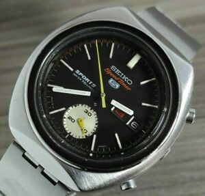 1970s VINTAGE SEIKO SPEED-TIMER 5,CHRONOGRAPH S/S AUTOMATIC MENS WATCH 6139-8000