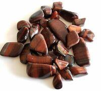 40-60 pcs Red Tiger's Eye Tumbled 1/2 lb bulk stones